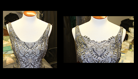 CK Alterations - Formal gown neckline alteration