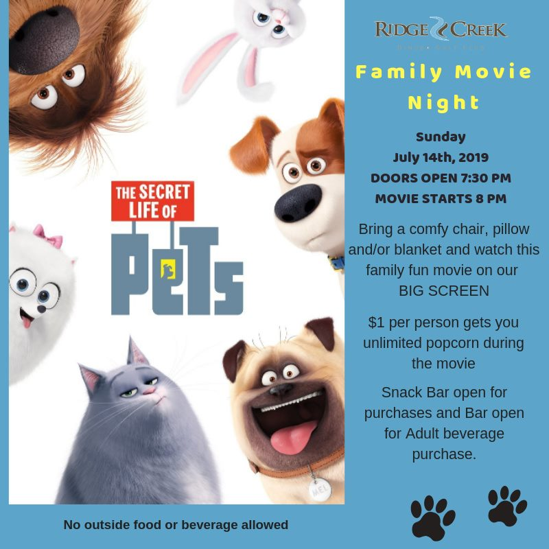 Ridge Creek Family Movie Night