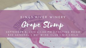 Kings River Winery, Grape Stomp
